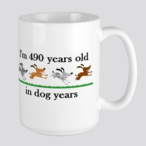 70 dog years birthday 2 Mug